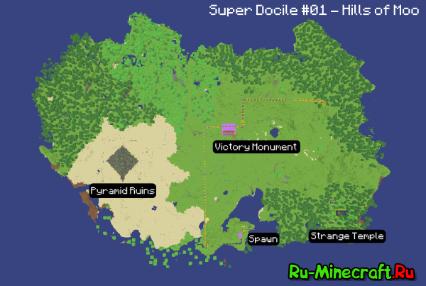 [Map] Super Docile#01 Hills of Moo - интересная CTM карта