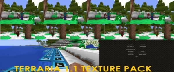 [1.0-1.5][16x] Terraria 1.1 - Текстур пак для minecraft в стиле террарии!