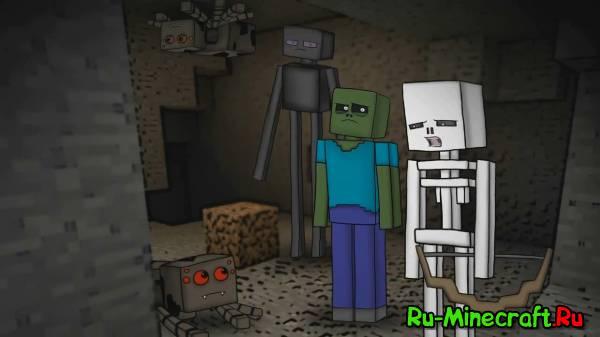 Mob Squad [Русский дубляж] - МОБ-ОТРЯД (Minecraft мультфильм)