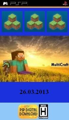 Multicraft  ver. 26.03.13 [HomeBrew] - Minecraft на PSP