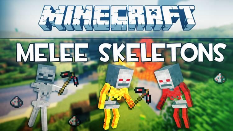 [1.5.1][FORGE][SSP+SMP] Melee Skeletons Mod/Скелеты ближнего боя