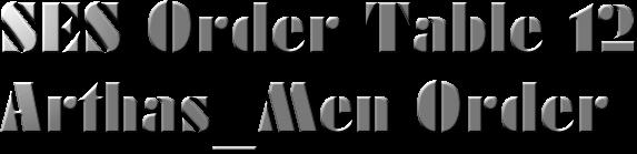 [1.5.1] SES Order Table [12]-Arthas_Men