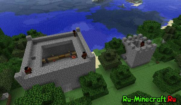 Майнкрафт карта большого рыцаря и замком