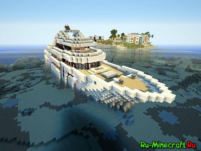 Скачать карту для minecraft яхта