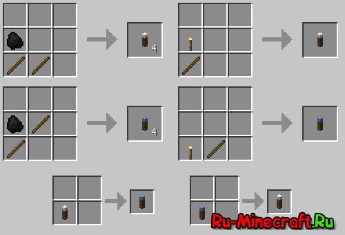 как сделать майнкрафте факел #4