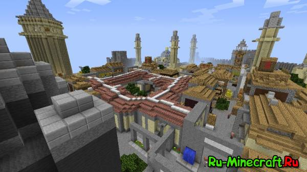 [Map] Assassin's Creed Revelations Constantinople [1.5.2/1.5.1/1.4.7] -   Небольшой городок
