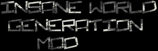 [1.5.2 - 1.6.2] INSANE WORLD GENERATION - интересная генерация мира