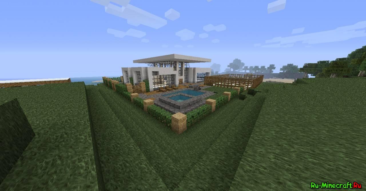 Map minecraft modern house for Casa moderna 10 x 10 minecraft