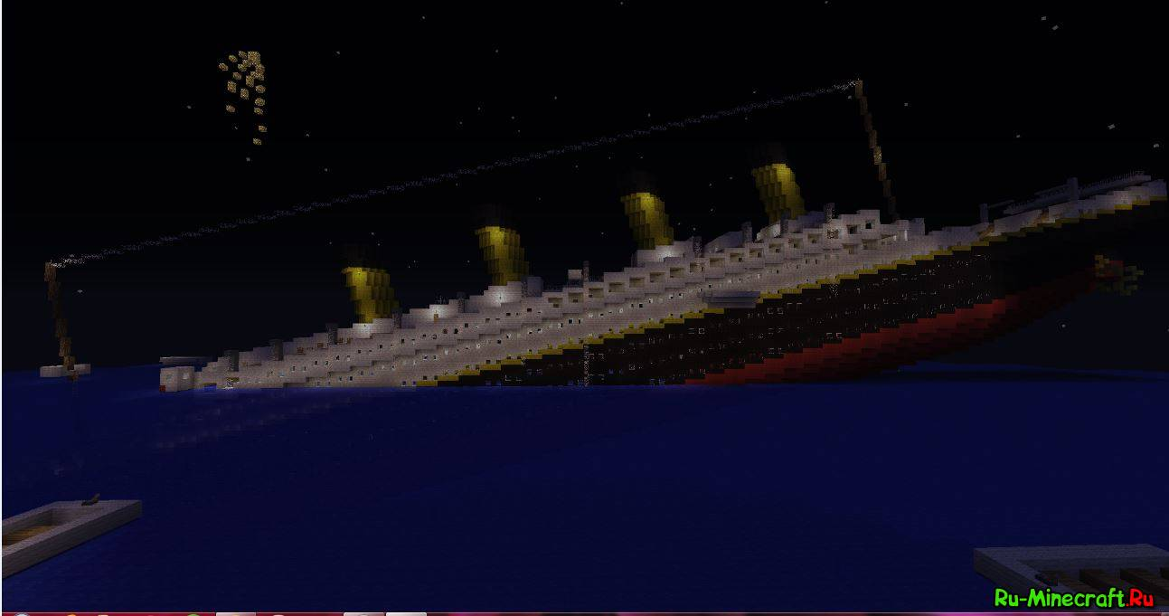 Майнкрафт Карта Титаник под Водой