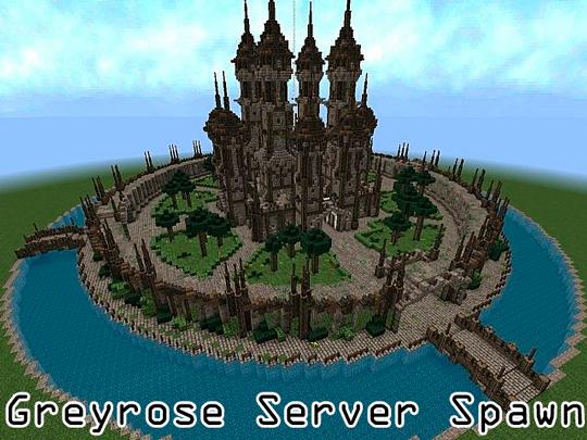 [1.5.2][Map][Spawn] Greyrose Server Spawn - красивый спавн для вашего сервера!
