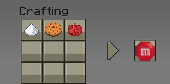 как сделать редкую конфету в майнкрафт #1
