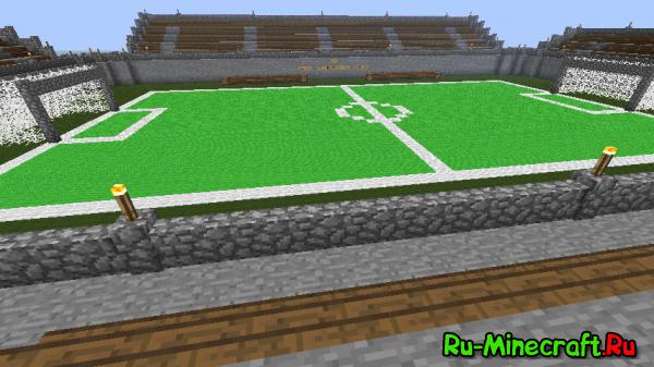 [Map]Футбол в Minecraft - соревнуйся с друзьями!