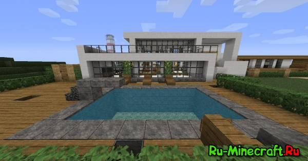 [Map] Minecraft Modern House - современный дом.