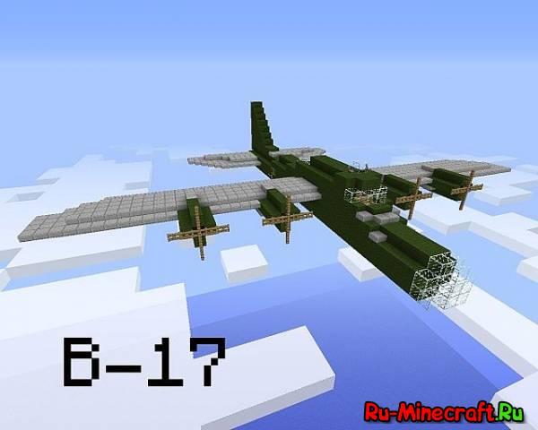 [MAP] Boeing B-17 Flying Fortress - военный самолёт в воздухе!