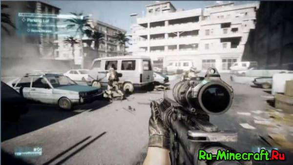 Battlefield 3 pack for Flan's mod - баттелфилд 3 пак для фланс [1.7.10]