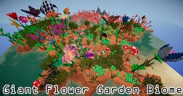 [1.5.2][Map] Giant Flower Garden Biome - гигантский цветочный биом!