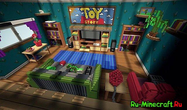 Скачать карты для minecraft дома из мульта игрушки для 1.8