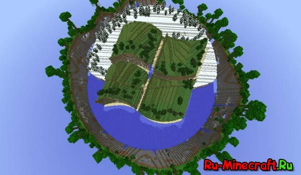 Windows Island-Остров в форме...логотипа Windows :D