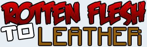 [1.6.2] Balanced Rotten Flesh to Leather Mod - Сделай кожу из гнилой плоти