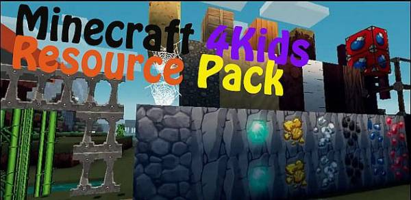 [1.6.2][64X]Minecraft 4Kids Revived - Мультяшный текстур пак