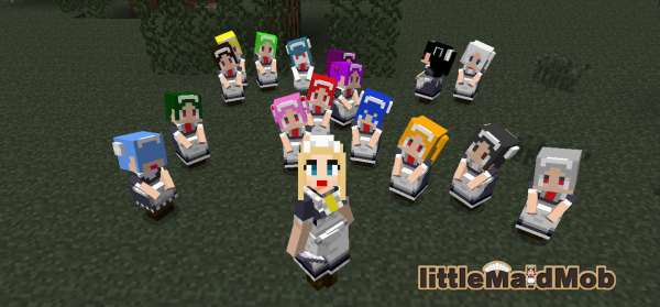 [1.6.2-1.8] LittleMaidMob - Мод добавит помошниц