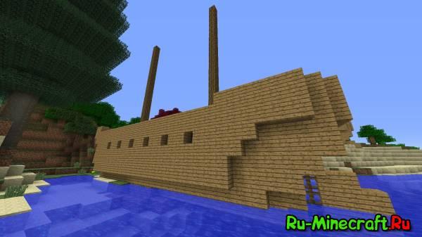 [1.6.2-1.8]Shipwrecks World Generation Mod-Новые данжи!