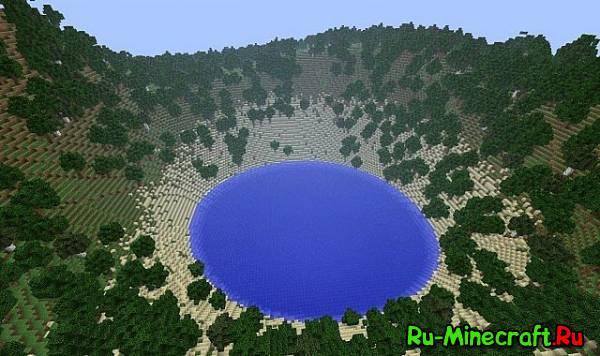 Озеро в кратере - Моя первая карта!