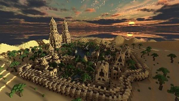 [Map]Hafsah, The Desert Village - красивая деревня в пустыне!