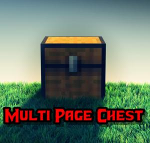 [1.6.2] Multi page chest v 1.2- огромнейший сундук! (Обновление мода)