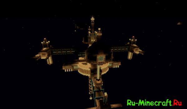 Скачать карту для майнкрафт космический корабль