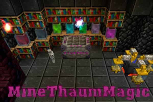 [1.5.2] MineThaumMagic - магически-приключенческий клиент