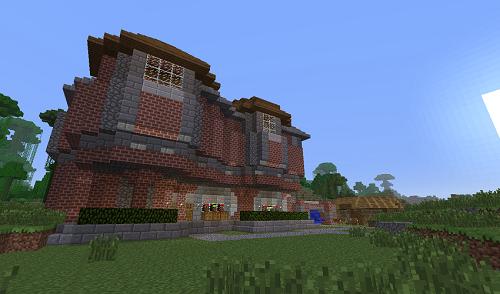 скачать карту для майнкрафт красивые двухэтажные дома #6