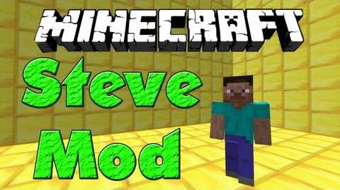 [1.6.4]Steve Mod - Ручной Стив