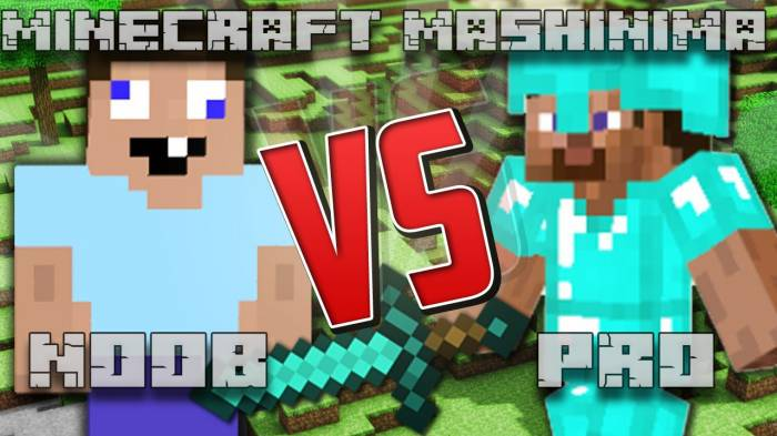 [Video]Noob vs. Pro (Minecraft Mashinima)