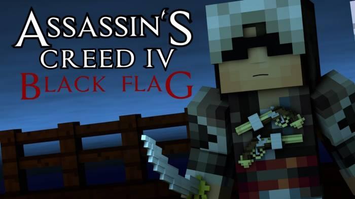 [Video]Minecraft Animation : ASSASSINS CREED 4! (Sky Edition) - Часть I