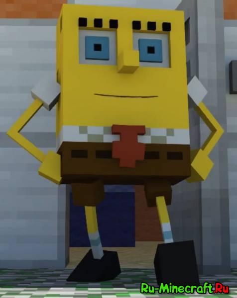 [Video] Spongebob in Minecraft - Губка Боб в майнкрафте!