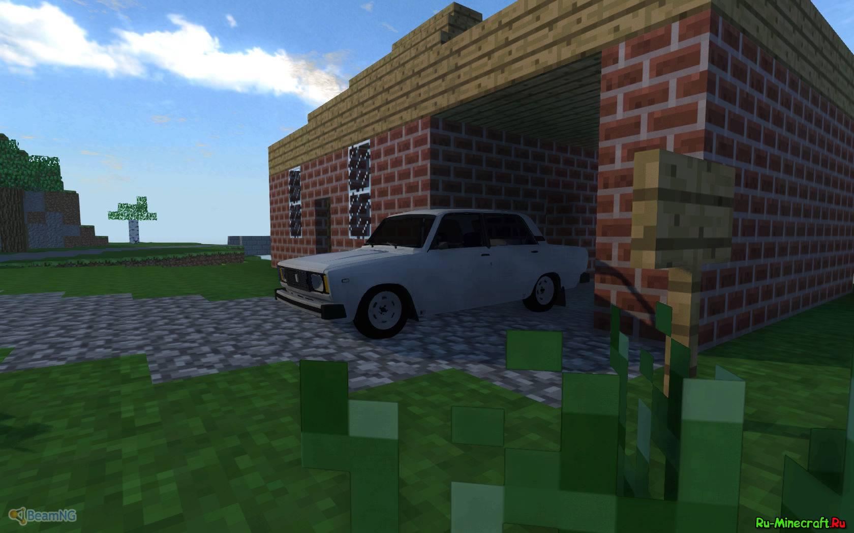 машина и гараж в майнкрафте мод #11