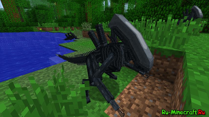 Скачать мод чужой против хищника для minecraft