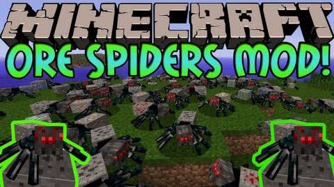 [1.6.4][Forge] - Ore Spiders Mod - Рудные пауки ._.