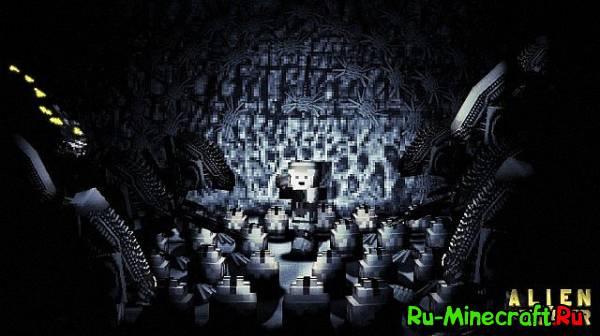 Aliens Vs Predator +mdxlib Чужой против Хищника  [1.7.10]