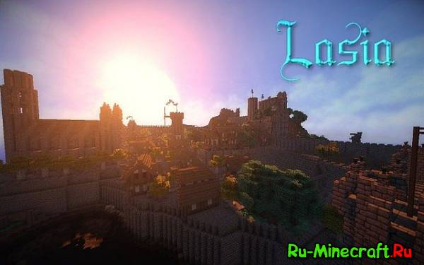 [Map][1.7.4] Lasia Medieval Village - большая деревня!