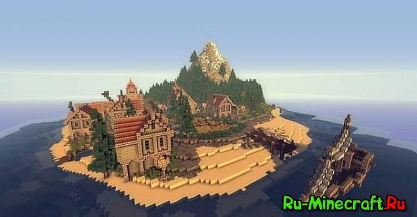 [Map] Ladrillo de piedra Island - красивая карта