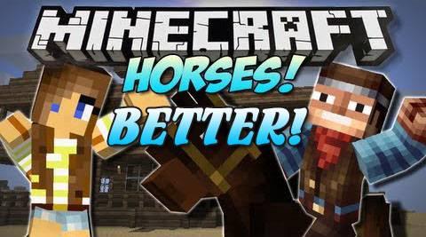 [1.7.2] Better Horses Mod - улучшенная анимация лошадей!