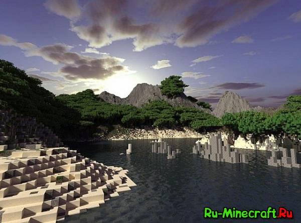 Custom Terrain - Tropical Island - Очень красивый остров [Map][1.7+]