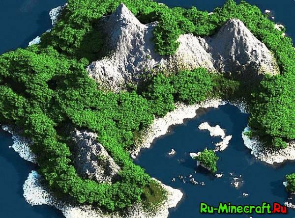 [Map][1.7+] Custom Terrain - Tropical Island - Очень красивый остров