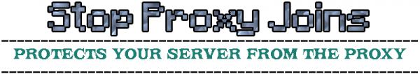[Plugin] StopProxyJoins - автоматическая защита сервера от бот атак