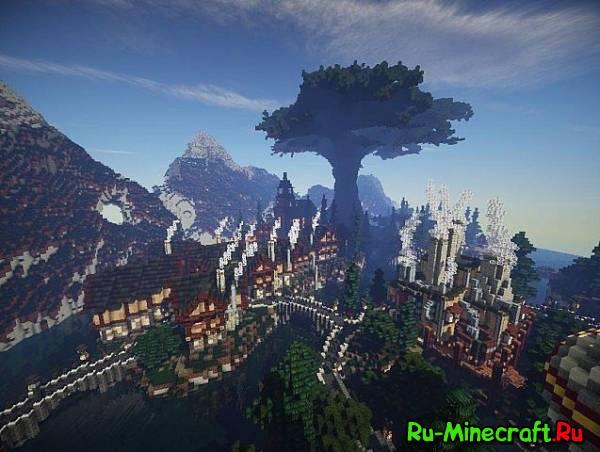 [Map][1.7+] Thysus: A world of Realistic Fantasy - Красивая карта с городами и посёлками