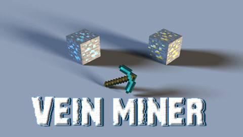[1.5.2-1.7.2] VeinMiner - Копаем всё и вся!