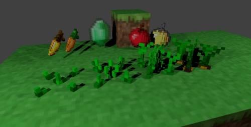 [1.7.2] 3D Craft Mod для Minecraft - 3Д вещи