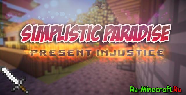 [1.7.9][64 x 64] Simplistic Paradise - мультипликационный текстур пак